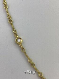 Roberto Coin Dog-Bone Diamond Station Necklace