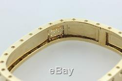 Roberto Coin Double Row 18K 750 Pois Moi Diamond Hinged Bangle Bracelet- 6.5