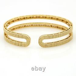 Roberto Coin Double Symphony Diamond 18K Yellow Gold Bangle Bracelet