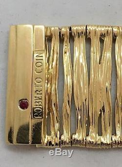 Roberto Coin Elephant Skin 18k Yellow Gold Bracelet Italy