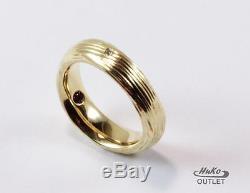 Roberto Coin Elephantino 18k Gold Yellow Diamond Band Ring Sz 6.5/t52.8/uk-n