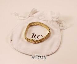 Roberto Coin Elephantino 18k Yellow Gold Elephant Skin Texture Bracelet, 7-inch