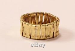 Roberto Coin Elephantino 18k Yellow Gold Wedding Flex Band Ring Sz 6.5/t53/uk-n