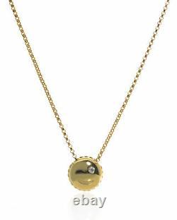 Roberto Coin Emoji 18k Yellow Gold Diamond(0.02ct Twd.)Necklace 7771792AY18X