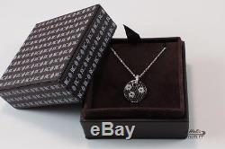 Roberto Coin Fantasia 18k Gold Diamond Black Sapphire Circle Necklace Pendant