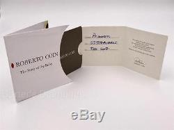 Roberto Coin Flexible Bangle with Diamonds Unworn 18K White Gold Retail $4200