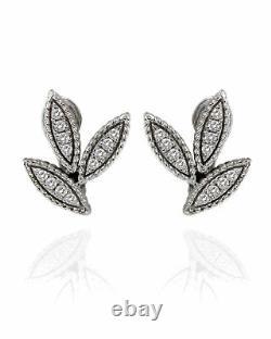 Roberto Coin Garden Princess 18k White Gold Diamond 0.32ct Earrings 7771954AWERX