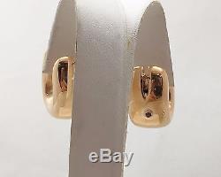 Roberto Coin Hoop 18k Rose Gold Earrings Italy