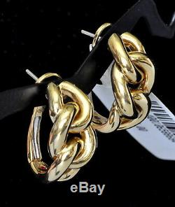 Roberto Coin Hoop Knot Earrings 18K Yellow Gold $3100 New Sale