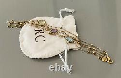 Roberto Coin IPANEMA 18K Yellow Gold Gemstone Five Strand Bracelet ITALY