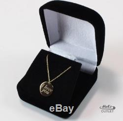 Roberto Coin I Love You 18k Yellow Gold Disc Dangle Necklace Pendant