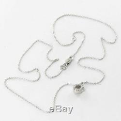 Roberto Coin Initial Thoughts Letter O 18k Gold 0.06ct Diamond Necklace New $580