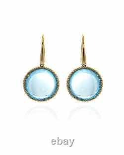 Roberto Coin Ipanema 18k Yellow Gold And Blue Topaz Earrings 367121AYERBT