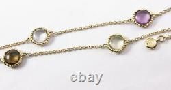 Roberto Coin Ipanema 18k Yellow Gold Gemstone 6-station Beaded Necklace Pendant