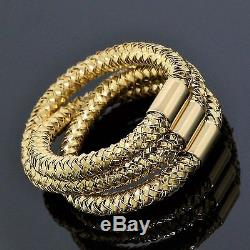 Roberto Coin Jewelry Italy 18K Yellow Gold Three Rope Twist Ring Size 6