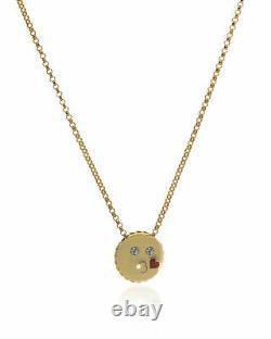 Roberto Coin Kiss Emoji 18k Yellow Gold Necklace 7771796AY18X