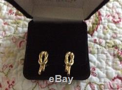 Roberto Coin Knot Earrings Featured in 18K Yellow Gold