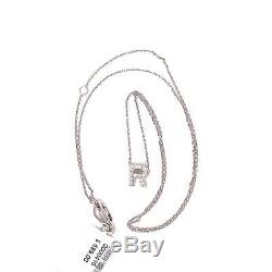 Roberto Coin Love letter Diamond Accent InitialR Necklace In 18KT White gold