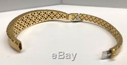 Roberto Coin Martella Diamond Bangle Bracelet 18K