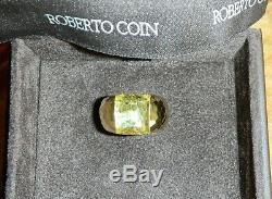 Roberto Coin Martellato18K Yellow Gold, Domed Citrine Ring, Size 6