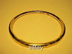 Roberto Coin Martellato 18K Yellow Gold Ruby Bangle Bracelet