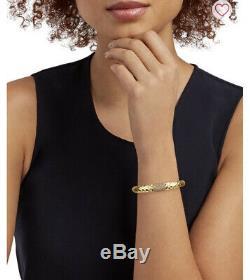 Roberto Coin Martellato 18K Yellow Gold with Chocolate Diamonds Bangle Bracelet