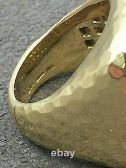 Roberto Coin Martellato 18k Yellow Gold Domed Ring Size 6.5