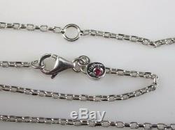 Roberto Coin Necklace 18K White Enamel Diamond 18 or 16 Link Chain Bollicine