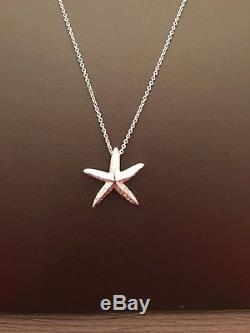 Roberto Coin New 18 Kt White Gold Tiny Treasures Starfish Necklace 000368awchx0