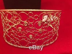 Roberto Coin New Bollicine Cuffdiamond. 11 Ct 18 Kt Gold Rc 91536aybax0