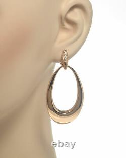 Roberto Coin Oro Classic 18k Rose Gold Diamond 0.20ct Earrings 7772022AHERX