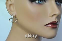Roberto Coin Oval Drop Earrings 18K Yellow Gold with Diamonds $2250 on Sale