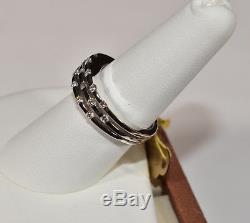 Roberto Coin Parisienne 3-Rows Diamond Ring 18k White Gold