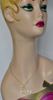 Roberto Coin Pendant Necklace 18K Yellow Gold Diamonds $1380 Delicate New Sale