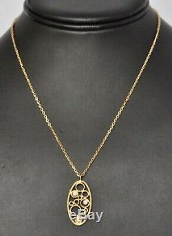 Roberto Coin Pendant Necklace 18K Yellow Gold Diamonds $1380 New Sale