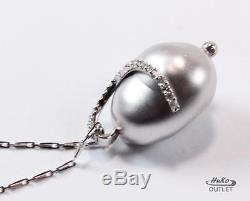 Roberto Coin Perl L'amore Love Pearl 18k White Gold Diamond Necklace Pendant