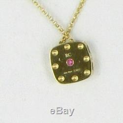 Roberto Coin Pois Moi 0.10cts Diamond Necklace 18k Yellow Gold New $1380