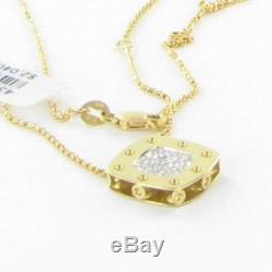 Roberto Coin Pois Moi 0.25cts Diamond Necklace 18k Yellow Gold New $2040