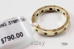 Roberto Coin Pois Moi 18k Gold Yellow Single Row Band Ring Sz 6.5/t52.8/uk-n