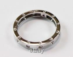Roberto Coin Pois Moi 18k White Gold Wedding Band Style Ring Size 8.5/t58/uk-r