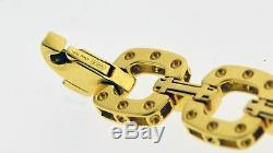 Roberto Coin Pois Moi 18k Yellow Gold. 20 tcw Diamond Square Link Bracelet 7.5