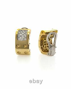Roberto Coin Pois Moi 18k Yellow Gold Diamond 0.54ct Earrings 777946AJERX0