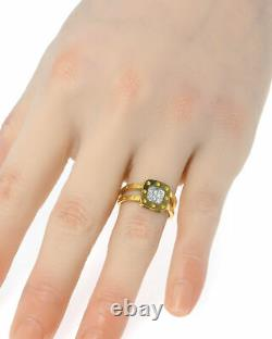 Roberto Coin Pois Moi 18k Yellow & White Gold Diamond Ring Sz 8 777920AJ80X0