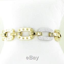 Roberto Coin Pois Moi Bracelet Diamond Link 0.90cts 18k Yellow Gold New $10000