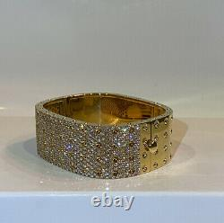Roberto Coin Pois Moi Diamond 18K Yellow Gold Bangle Bracelet 4 Row $49,900