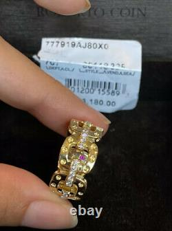 Roberto Coin Pois Moi Diamond 18k Yellow Gold 0.35ct Ring Sz 7.75 NWT $3180