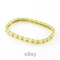 Roberto Coin Pois Moi Diamond Bracelet Single Row 18k Yellow Gold New $4300