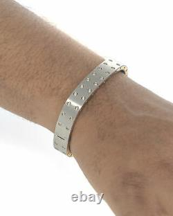 Roberto Coin Pois Moi Stainless Steel & 18k Rose Gold Bracelet 7771425ASHBA