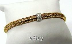 Roberto Coin-Primavera- 18K Rose & Diamonds Fits 7.25 wrist no box/pouch