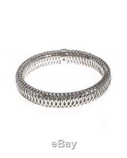 Roberto Coin Primavera 18K White Gold Bangle Bracelet 557697AWBA00